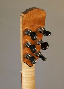 Orchestra Prototype #9X, back of headstock with banjo-style tuners