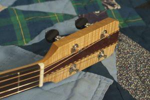 Tenor guitar in sugar maple, no. 11, headstock