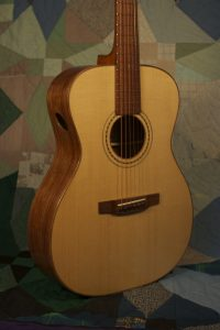 Orchestra guitar no 15 features a lovely Adirondack spruce top.