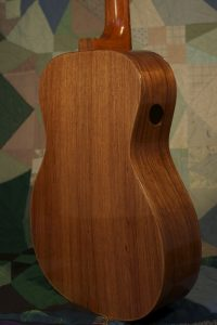 Orchestra guitar no 15 features palo escrito (a rosewood from Mexico) sides and back.