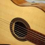classical guitar front detail
