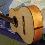 classical guitar front with end graft