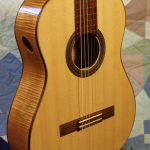 classical guitar front, detail