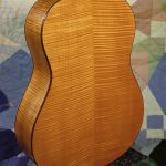 classical guitar body back