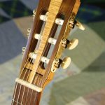 classical guitar headstock, front