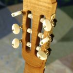 classical guitar headstock, back