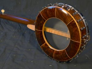 Rear view of banjo pot with partial internal resonator