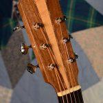 Auditorium guitar headstock, front