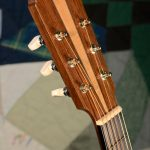 Orchestra guitar headstock, front