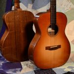 Two walnut guitars