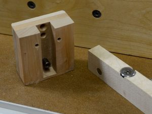 The neck-facing side of the neck block.
