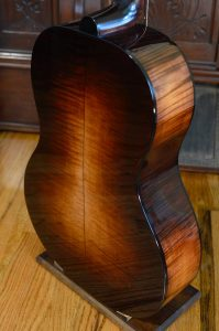 The back of a maple guitar body.